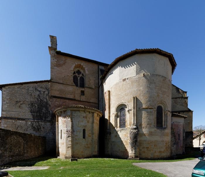 L'abside de l'abbatiale Saint-Jean