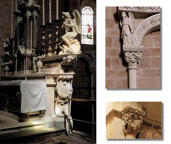 Sculptures église, montage JP Valois